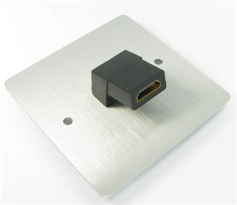 Faceplate Hdmi Rj45 By Subway hdmi faceplate brushed chrome nx wp 341r by nexxia