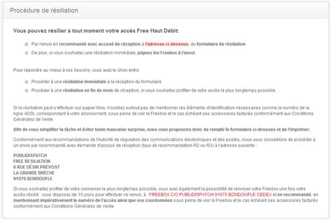 modele lettre resiliation free