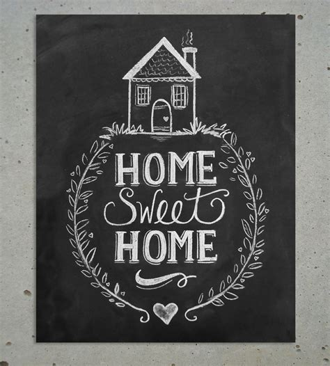 art home home sweet home chalkboard art print art prints