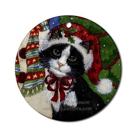 cat christmas ornaments christmas ornament shop