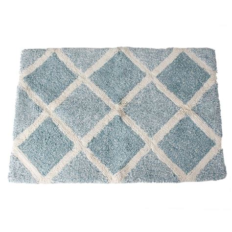 light blue bath rugs saturday modena 31 in x 21 in cotton bath rug in light blue q1225810850007 the home depot