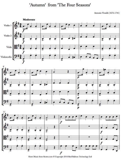 autumn seasons quartet all music chords autumn vivaldi sheet music autumn vivaldi sheet music autumn vivaldi sheet