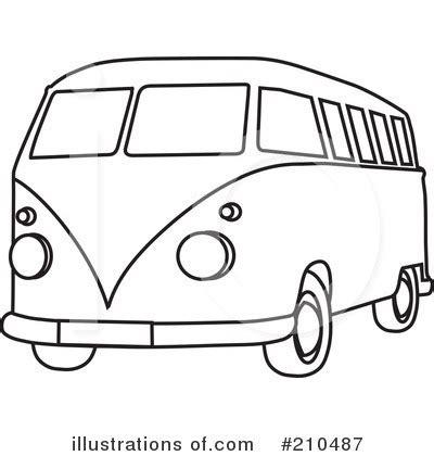 volkswagen hippie van clipart hippie van clipart 210487 illustration by rosie piter