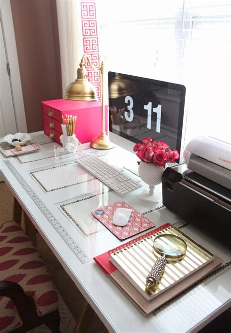 work desk decor glam decor kate spade office design workspace ideas