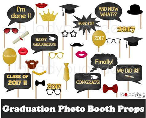 printable photo booth props graduation graduation photo booth props printable diy 2017 grad selfie