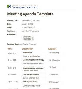 meeting agenda template a template to organize meeting