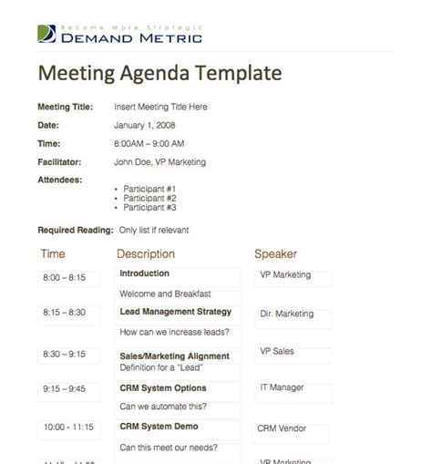 school team meeting agenda template meeting agenda template a template to organize meeting