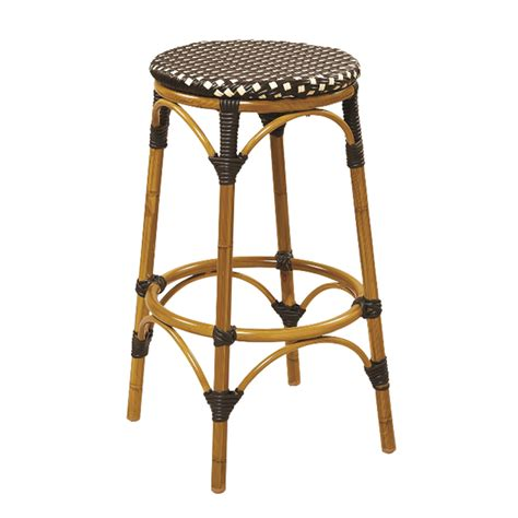 cane bar stool aluminum and cane black and beige weave backless bar stool