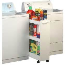 laundry room storage caddy garage 3 shelf shelves wheels