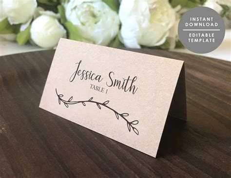 Wedding Place Card Template Rustic by Appealing Wedding Name Place Settings Gallery Best Image