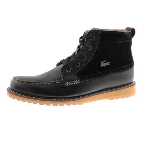 lacoste marceau boots black mainline menswear
