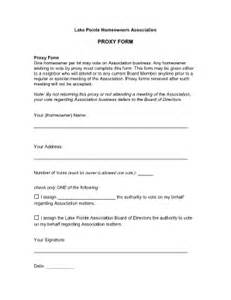 free proxy template proxy form hoa fill printable fillable blank