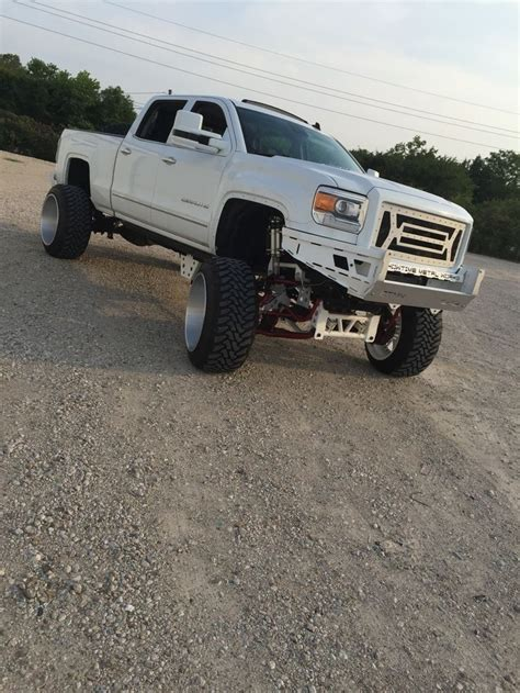 gmc 2500hd rims 2015 gmc denali 2500hd lifted on 24x16 american forces