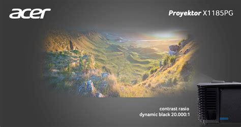 Proyektor Acer X1185pg proyektor acer x1185pg proyektor praktis untuk ruangan terang