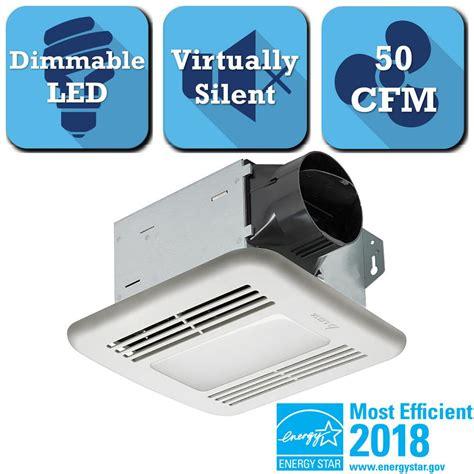 50 cfm bathroom fan 50 cfm ceiling exhaust bath fan with light 678 the home depot