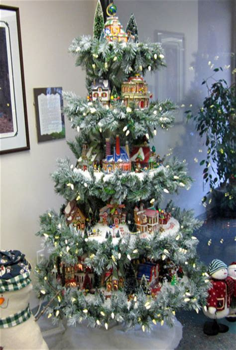 measurements christmas tree village display display stands happy holidays