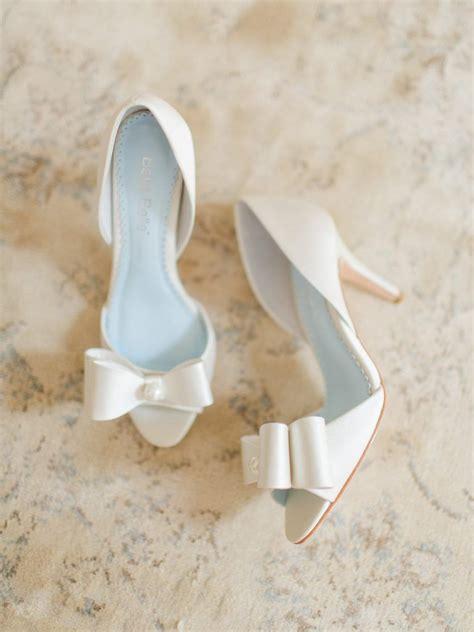 peep toes brautschuhe high heels mit schleife hochzeit