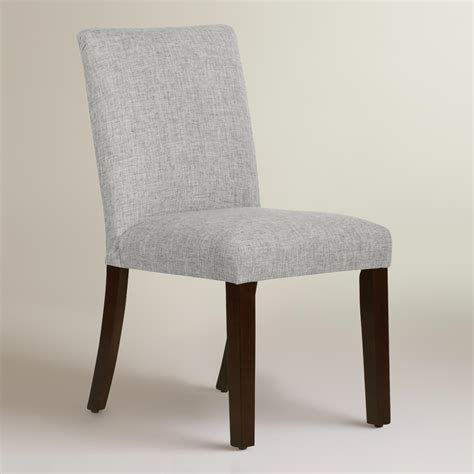 Upholstered Linen Dining Chairs Linen Blend Kerri Upholstered Dining Chair World Market