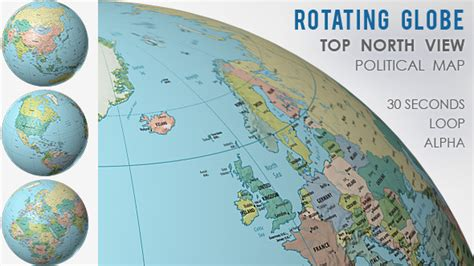 Rotating Globe World Political Map Top View By Vf Videohive Spinning Globe After Effects Template