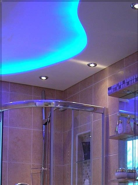 bathroom lighting ideas ceiling 8 best images about led strip lights in bathrooms on