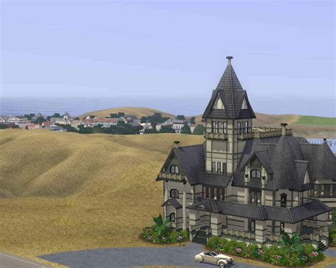 Gothic Victorian Homes mod the sims carson mansion