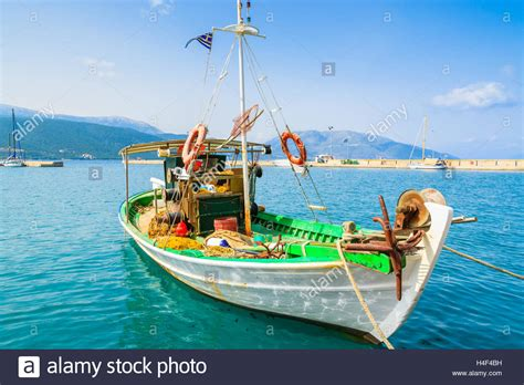 greek fishing boat images traditional colorful greek fishing boat in port of sami