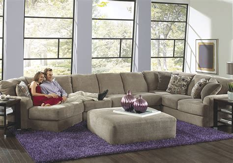 malibu taupe pc laf piano wedge sectional louisville overstock warehouse