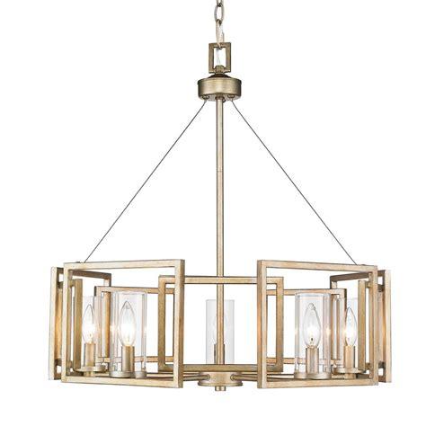 Golden Lighting Chandelier 6068 5 Wg Golden Lighting 6068 5 Wg Marco Wg 5 Light Chandelier In The White Gold Finish With