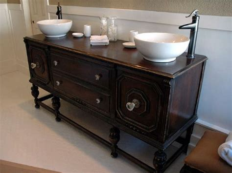 How To Make A Bathroom Vanity Out Of A Dresser by How To Make A Sideboard Out Of A Dresser Woodworking