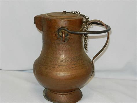 Antique Copper Ls antique copper tin lined water pitcher ewer kettle from mygrandmotherhadone on ruby