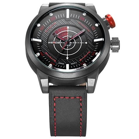 Weide Japan Quartz Miyota Leather Sports 30m Water Res weide japan quartz miyota leather sports 30m water resistance wh5201 white