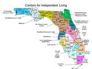 tallahassee map of florida centers for independent living map