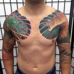 dragon tattoo on chest and arm 40 tiger dragon tattoo designs for men manly ink ideas