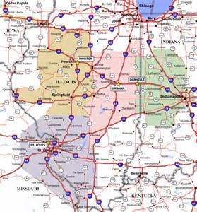 central map of towns central illinois map