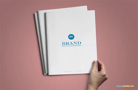 Minimalistic Branding Guidelines Template Brandbook Zippypixels Brand Book Template Free