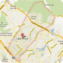 where is lake forest california on a map lake forest ca solid waste service construction project
