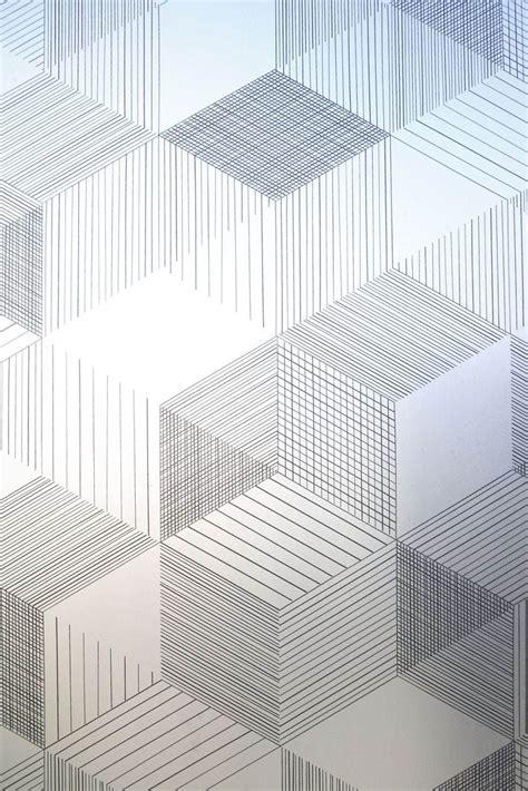 geometric pattern laminate graphite window film in a graphic design by johanna
