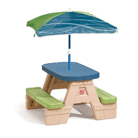 sit play picnic table with umbrella step2