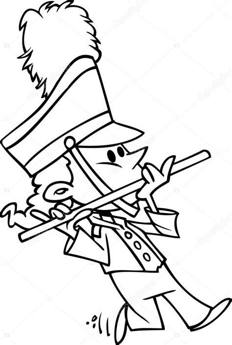 garota da banda marcial dos desenhos animados — Vetor de
