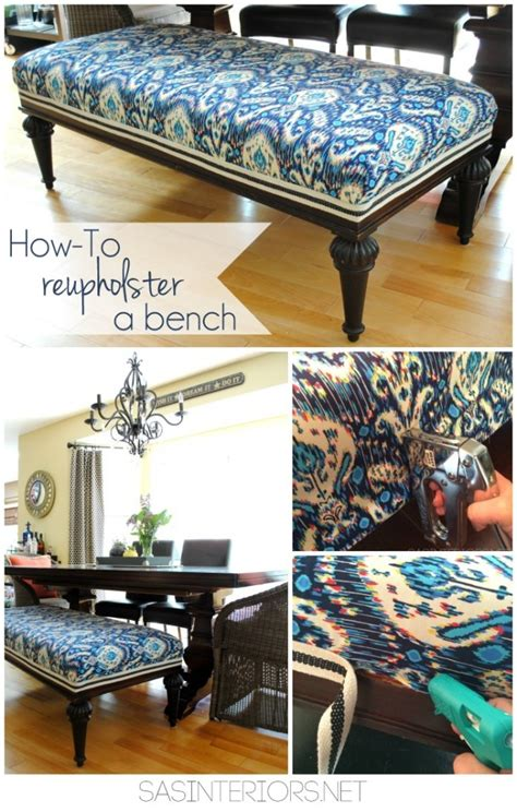 how to reupholster a storage bench diy how to reupholster a bench jenna burger