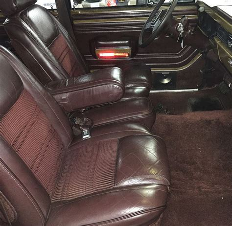 1989 jeep wagoneer interior no reserve 1989 jeep grand wagoneer bring a trailer