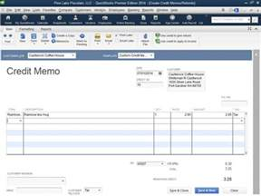 Credit Memo Template Quickbooks How To Record Credit Memos In Quickbooks 2014 Dummies
