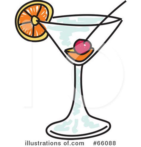 retro martini clip blue cocktail clipart