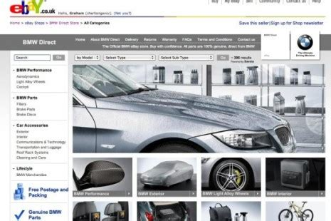 bmw web page bmw opens direct sales ebay store