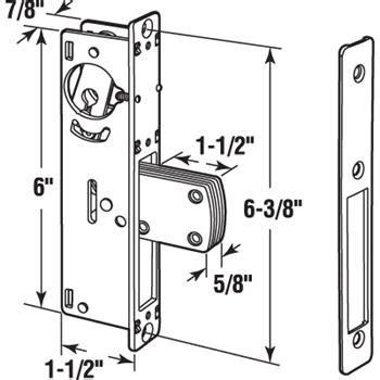 sliding door parts faceplate repair j 4526 commercial door deadbolt lock faceplate