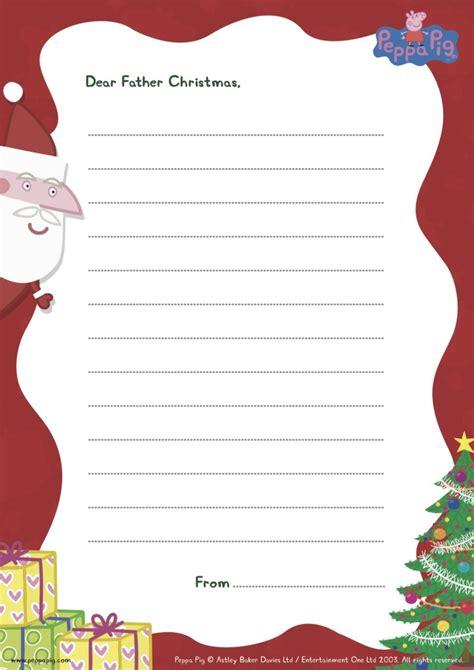 Dear Santa Card Template by Peppa Pig Printable Worksheets The