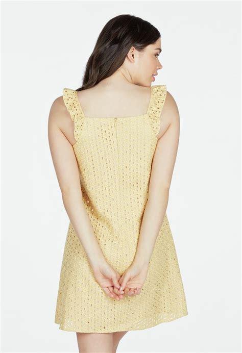 swing kleider wien eyelet swing dress kleidung in mimosa g 252 nstig kaufen bei