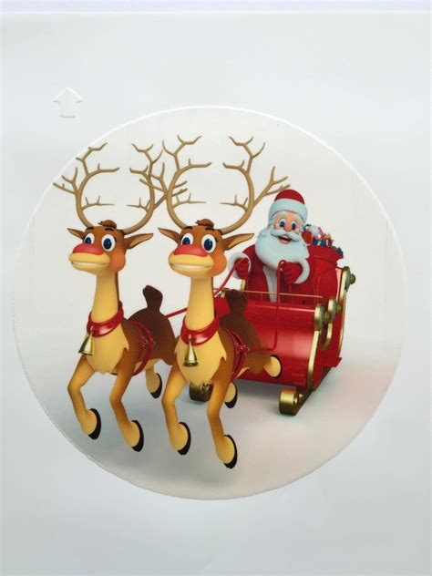edible cake toppers decoration christmas reindeer cake top