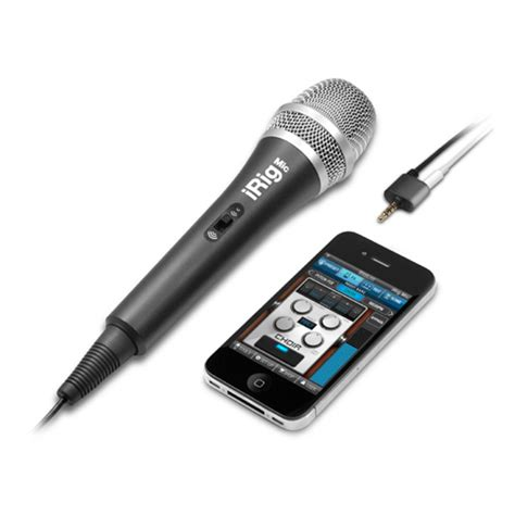 iphone microphone ik multimedia irig mic microphone for iphone at gear4music