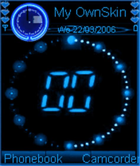 themes clock animated animated digital clock s60v2 mobile themes for nokia n